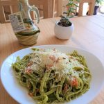 Linguine Pesto y Stracciatella